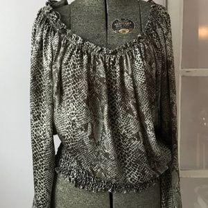 Michael Kors silky snake skin blouse medium